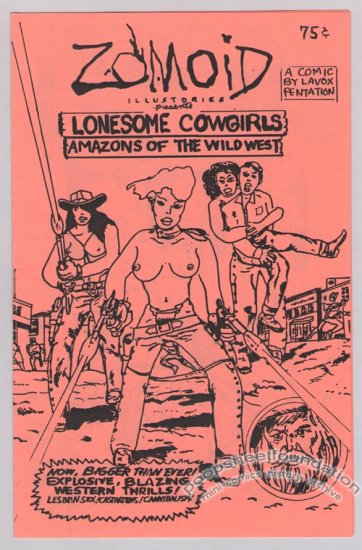 ZOMOID ILLUSTORIES #12 underground comix mini LAVOX PENTATION 1984