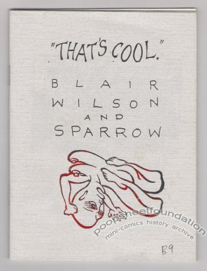 THAT'S COOL art brut mini-comix BLAIR WILSON Sparrow 1992