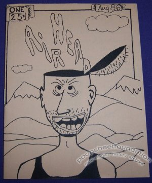 AIR HEAD #1 mini-comic ED CRAWFORD 1986