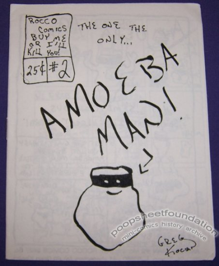 AMOEBA MAN #2 mini-comic GREG KOCIAN Rocco 1989
