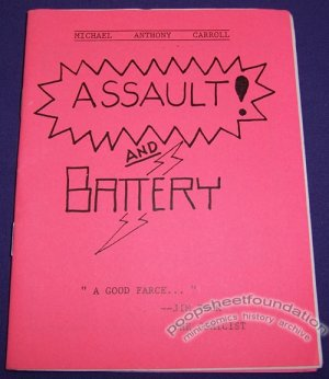 ASSAULT AND BATTERY mini-comic MICHAEL A. CARROLL 1993