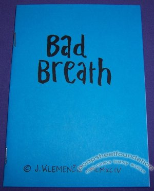 BAD BREATH Slovenian mini-comic JACOB KLEMENCIC 1994