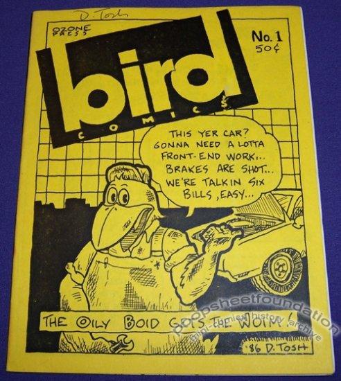 BIRD COMICS #1 mini-comix BRAD FOSTER David Tosh MATT LEVIN signed handcolored 1986