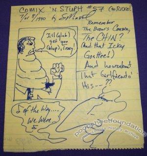 COMIX 'N STUPH #57 hand-drawn mini-comic S. MINSTREL 1990
