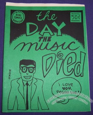 THE DAY THE MUSIC DIED mini-comix MATTHEW GUEST Bill Fitts 1989