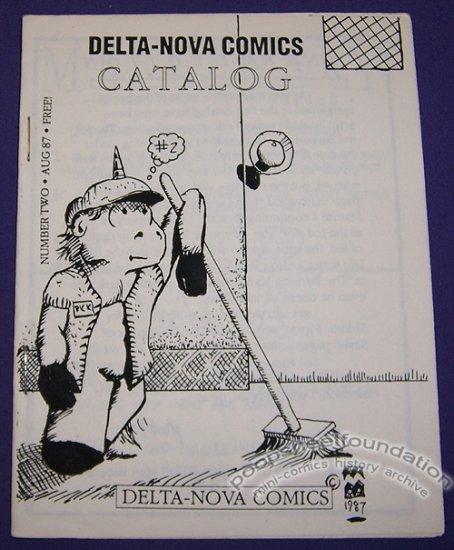 DELTA-NOVA COMICS CATALOG #2 mini-comics MATT BROERSMA 1987