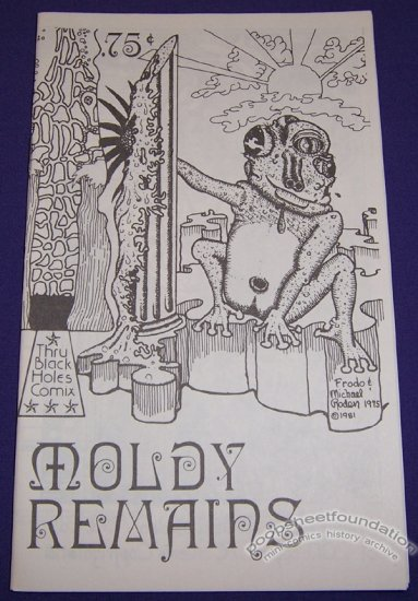 MOLDY REMAINS underground comix MICHAEL RODEN signed art brut 1981