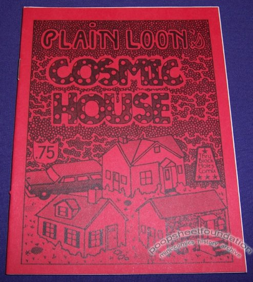 PLAIN LOON'S COSMIC HOUSE underground comix MICHAEL RODEN art brut mini 1983