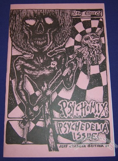 PSYCHOMIX #6 art brut comix R.K. SLOANE Jeff Gaither ANDY NUKES 1988