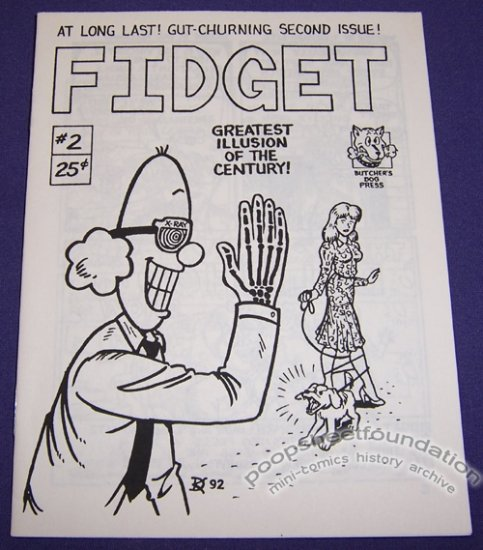 FIDGET #2 mini-comic DAN KELLAWAY T. Richard Litz 1992
