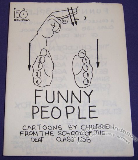FUNNY PEOPLE mini-comic JOE MEYER children's artwork 1988