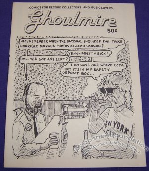 GHOULMIRE mini-comix WAYNO record collecting 1985