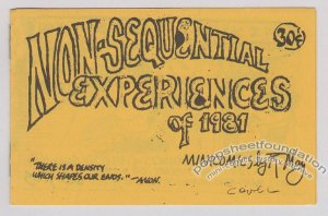 NON-SEQUENTIAL EXPERIENCES OF 1981 underground comix ROGER MAY numbered edition