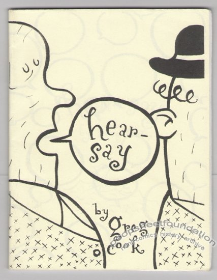 HEARSAY mini-comic GREG COOK Highwater Books 2000