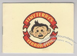 TINY TERRY&#039;S TERROR TIME mini-comic TOBY MORRIS New Zealand 2002