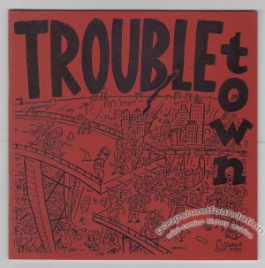 TROUBLETOWN #2 mini-comic LLOYD DANGLE signed 1993