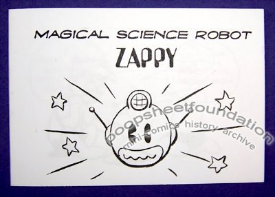 MAGICAL SCIENCE ROBOT ZAPPY mini-comic DAVID GOODMAN 2003