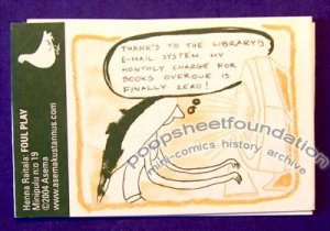 FOUL PLAY Minipulu #19 Finnish mini-comic HENNA RAITALA 2004