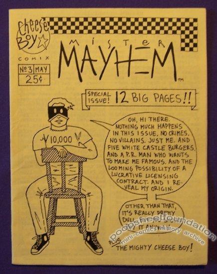 MISTER MAYHEM #3 mini-comic JASON LIGHT minicomic 1993