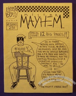 MISTER MAYHEM #3 mini-comic JASON LIGHT minicomic 1993