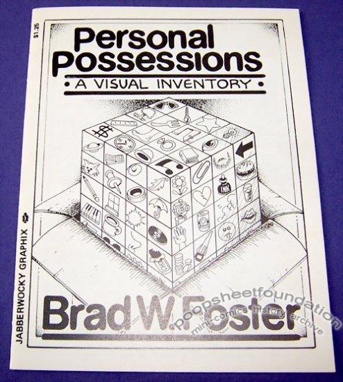 PERSONAL POSSESSIONS mini-comic BRAD FOSTER Jabberwocky 1989
