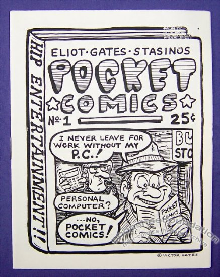 POCKET COMICS #1 mini-comic VICTOR GATES George Stasinos 1987