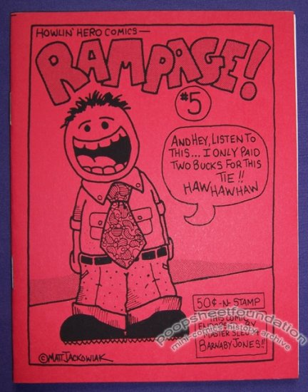 RAMPAGE #5 mini-comic MATT JACKOWIAK minicomic 1988