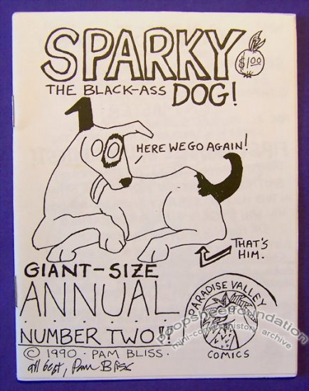 SPARKY ANNUAL #2 mini-comic PAM BLISS signed 1990