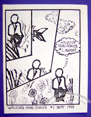 WALKING MAN COMICS #1 mini-comic MATT LEVIN rubber stamp comix 1985