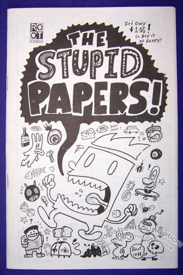 THE STUPID PAPERS #1 mini-comic ROOT BRADFORD digest 1996