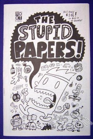 THE STUPID PAPERS #1 mini-comic ROOT BRADFORD digest 1996