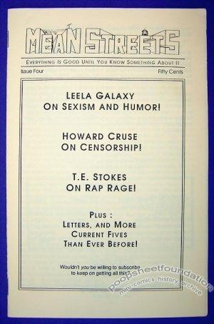 MEAN STREETS #4 comics commentary HOWARD CRUSE Leela Galaxy 1990