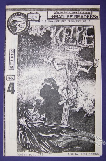 KELPIE #4 mini-comic DAVID PUCKETT minicomic 1987