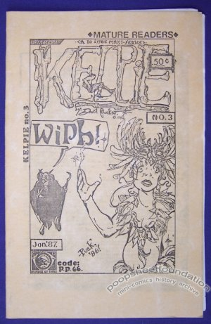 KELPIE #3 mini-comic DAVID PUCKETT minicomic 1987