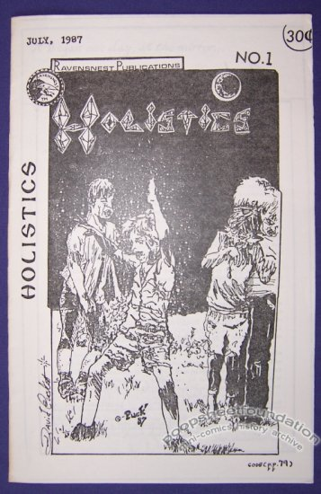 HOLISTICS #1 mini-comic DAVID PUCKETT minicomic 1987
