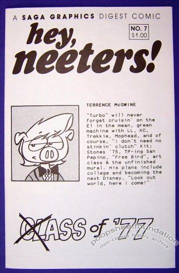 HEY, NEETERS #7 mini-comic MIKE SAGARA funny animals 1991
