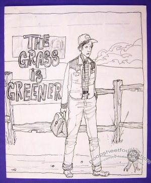 THE GRASS IS GREENER mini-comic T.S. ROOT minicomic