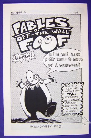 FABLES OF OFF-THE-WALL FOOF #1 mini-comic DALE MARTIN 1993