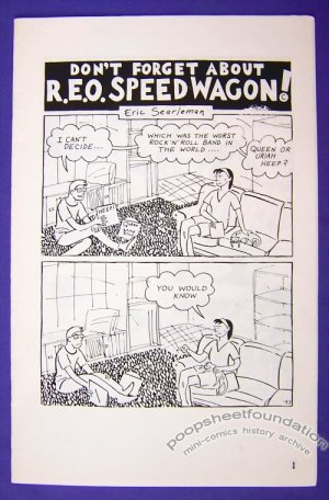 REO SPEEDWAGON mini-comic ERIC SEARLEMAN 1993