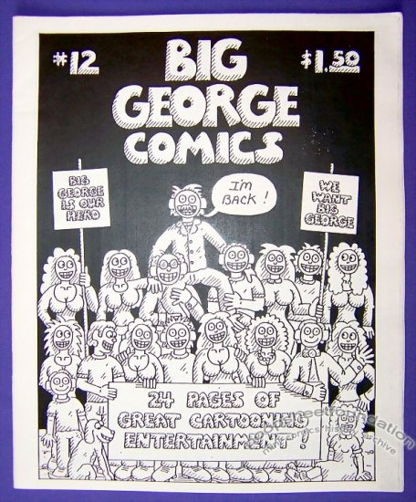 BIG GEORGE COMICS #12 mini-comic GEORGE STASINOS small press 1990