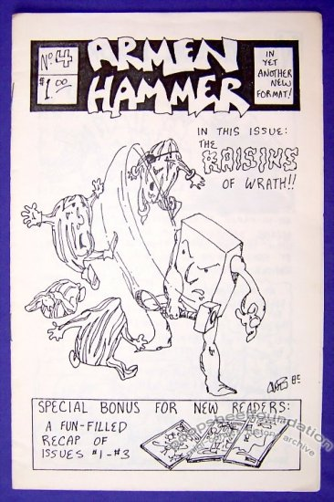 ARMEN HAMMER #4 mini-comic DALE MARTIN small press 1985