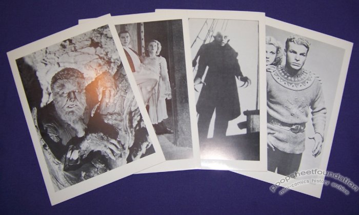 CLASSIC HORROR postcard set Universal Monsters Chas Muller 1990