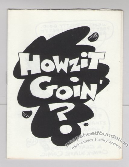 HOWZIT GOIN' mini-comic GEORGE ERLING Comix Wave 1986