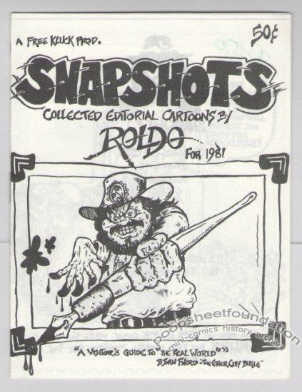 SNAPSHOTS Canadian mini-comic ROLDO Free Kluck underground comix 1981