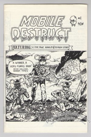 MOBILE DESTRUCT #2 mini-comic ALAN HANLEY Dennis Jensen 1985