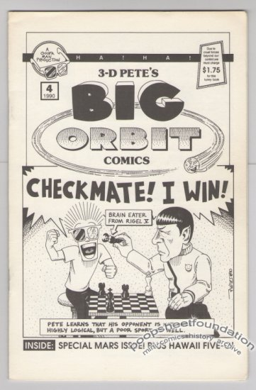 3-D PETE'S BIG ORBIT #4 mini-comic MIKE FISHER science fiction minicomic 1990