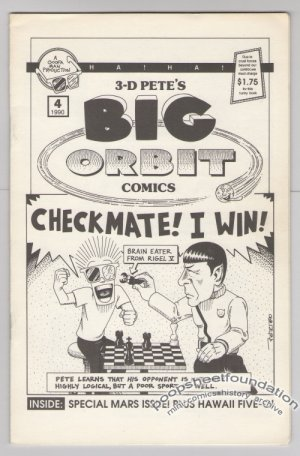 3-D PETE'S BIG ORBIT #4 mini-comic MIKE FISHER 1990