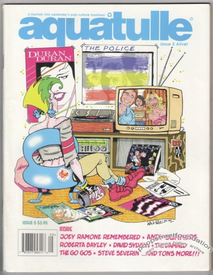 AQUATULLE #5 zine ANDY SUMMERS Atari JOEY RAMONE 2002