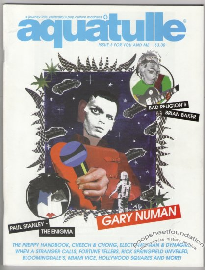 AQUATULLE #3 zine GARY NUMAN Bad Religion JEFF ROYSDON 1998