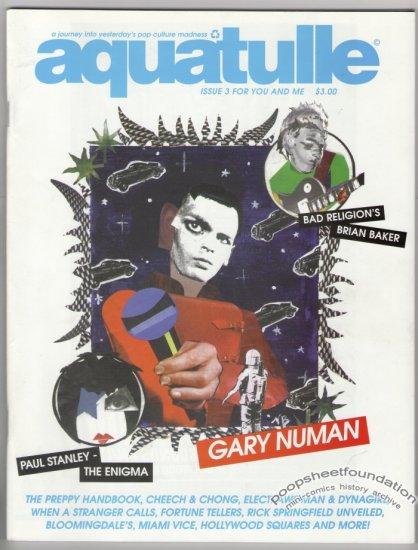 AQUATULLE #3 zine GARY NUMAN Bad Religion JEFF ROYSDON 1998